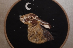 Hand-embroidered-moon-gazing-hare-hoop.-10-inches.