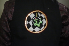 Hand-embroidered-upcycled-ariel-hooping-snake-waistcoat.-Size-50