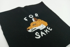 Hand-embroidered-For-fox-sake-patch