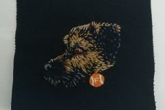 Hand-embroidered-pet-patch-Freddie.