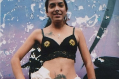 Hand-embroidered-upcycled-flower-crop-top