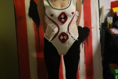 Hand-embroidered-upcycled-clown-leotard.-size-8-10