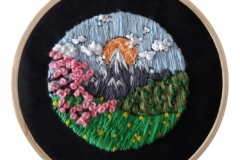 1_Hand-embroidered-mountian-scene-hoop.-5-inches