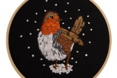 Hand-embroidered-robin-hoop-5-inches-.