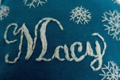 Hand-embroidered-upcycled-Christmas-decoration.-Close-up
