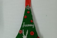 Hand-embroidered-upcycled-Christmad-decoration.