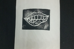 Monster-mouth-lino-print-.