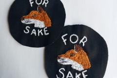 Hand-embroidered-For-Fox-Sake-patches
