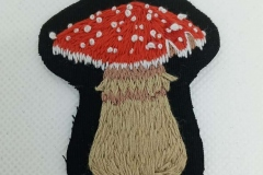 Hand-embroidered-Mushroom-patch.