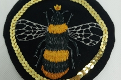 Hand-embroidered-Queen-Bee-patch