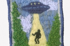 Hand-embroidered-UFO-patch