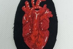 Hand-embroidered-anatomical-heart