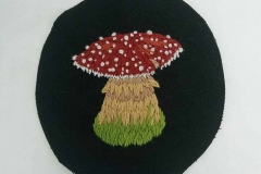 Hand-embroidered-circle-mushroom-patch
