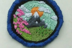 Hand-embroidered-mountians-patch