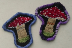 Hand-embroidered-mushroom-patches