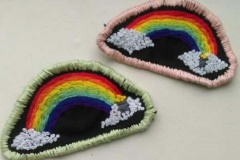 Hand-embroidered-rainbow-patch