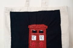 Hand-embroidered-upcycled-post-box-bag