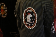 Hand-embroidered-upcycled-pinstriped-jester-rat-jacket.-size-12
