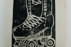 Get-your-skates-on-lino-print