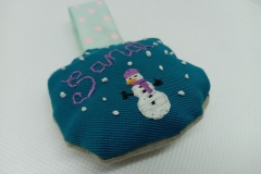 Hand-embroidered-snowman-Christmas-hanger.
