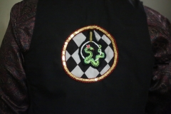 Hand-embroidered-upcycled-ariel-hooping-snake-waistcoat.-Size-50.