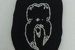 Hand-embroidered-tooth-patch..