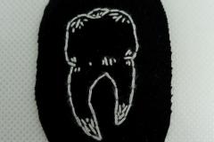 Hand-embroidered-tooth-patch